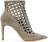 Jean-Michel Cazabat cut-out pointed ankle boots - women - Leather/Suede - 37