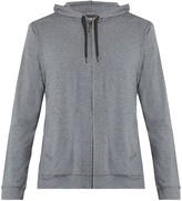Derek Rose Marlowe zip-up jersey hooded sweatshirt