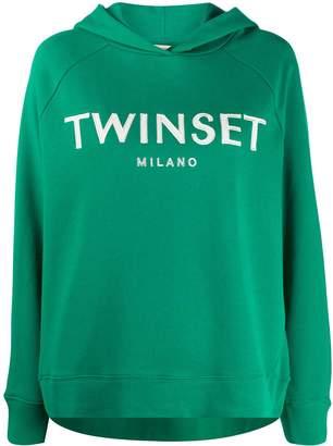 Twin-Set Twin Set logo print hoodie