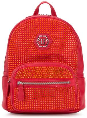 Philipp Plein Junior rhinestone embellished backpack