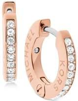 Michael Kors Pavé Engraved Hoop Earrings