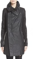 Rick Owens Women's 'Cyclops' Leather Trench Biker Jacket