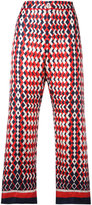 F.R.S For Restless Sleepers - geometric print cropped trousers - women - Silk - M