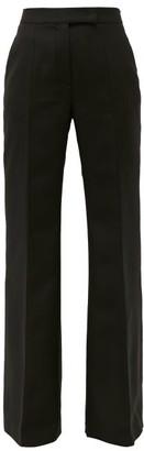 Gabriela Hearst Ledra Virgin Wool-blend Tailored Trousers - Black