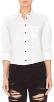 Alice + Olivia Women's Brita - Loving You Embroidered Boyfriend Shirt