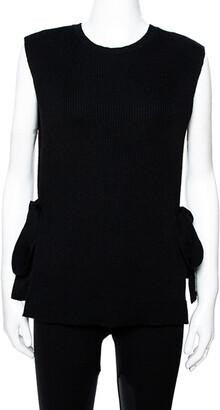 Valentino Black Wool Knit Open Side Vest S