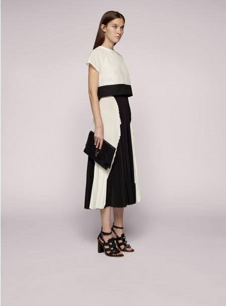 Proenza Schouler Short Sleeve Pleated Skirt Dress