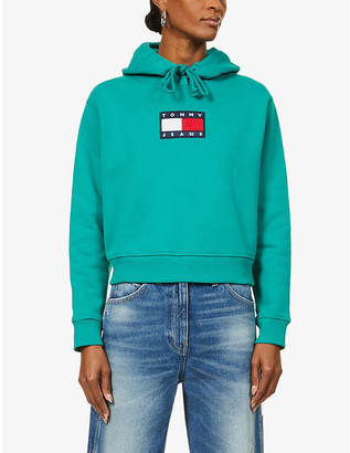 Tommy Jeans Tommy Flag cotton-jersey hoodie