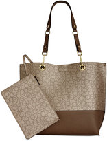 Calvin Klein Signature Reversible Tote With Pouch