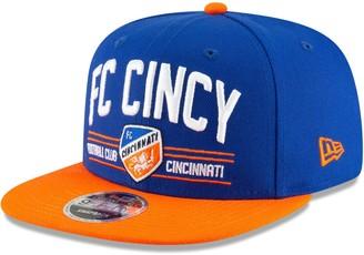 New Era FC Cincinnati Satin Two-Tone 9FIFTY Snapback Adjustable Hat - Blue/Orange