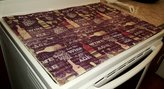 Penny's Needful Things Purple Wine Glass Stove Top / Cook Top Cover & Protector