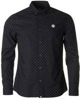 Pretty Green Horlock Long Sleeved Polka Dot Shirt