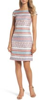Vince Camuto Petite Women's Jacquard Sheath Dress