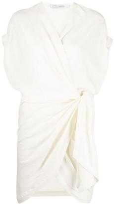 IRO Draped Fitted Mini Dress
