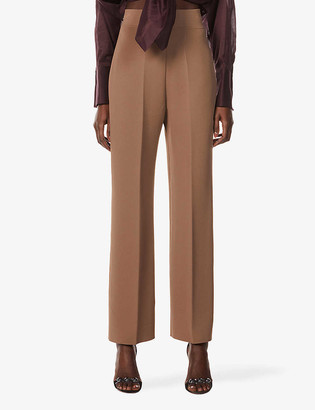 Azzedine Alaia Adage wide-leg high-rise stretch-woven trousers