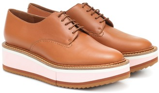 Clergerie Berlin leather platform Derby shoes