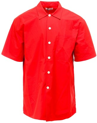 Alexander McQueen Dragon Printed Short Sleeve Shirt
