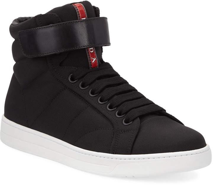 e4e42244 Men's High-Top Nylon Canvas Sneakers