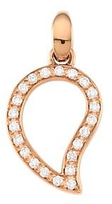 Tamara Comolli Signature Wave 18K Rose Gold & Diamond Pave Small Pendant
