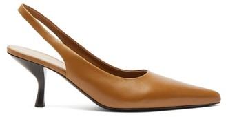 The Row Bourgeoise Leather Slingback Pumps - Tan