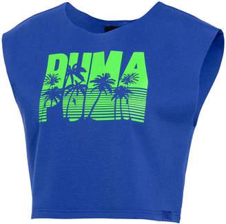 FENTY PUMA by Rihanna Palm-Tree Logo Sleeveless Crop Top