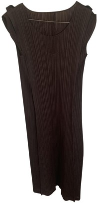 Pleats Please Brown Polyester Dresses