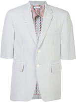Thom Browne shortsleeved pinstripe blazer - men - Cotton/Cupro - 3