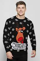 Convict Rudolph Knitted Christmas Jumper