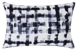 "Sean John Watercolor Plaid 12"" x 18"" Decorative Pillow Bedding"