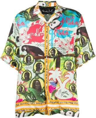 Martine Rose mixed print short sleeve shirt multicolor