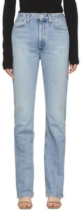 A Gold E Agolde AGOLDE Blue Vintage High Rise Flare Jeans