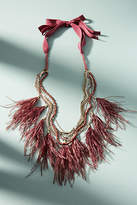 Anthropologie Wispy Feather Layered Necklace