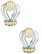 Lagos Sterling Silver & 18K Yellow Gold Derby Earrings