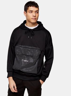 Topman SIXTH JUNE Reflective Front Zip Pocket Hoodie