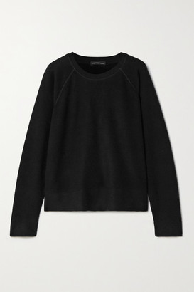 James Perse Cotton And Cashmere-blend Sweater - Black