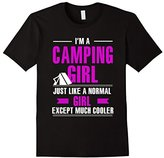 Camp shirts plus size women - Camping girl is cooler