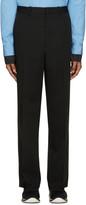 Marni Black Wool Straight Trousers