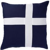 PALOMA LIVING Linen Cross Navy Cushion