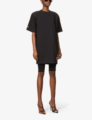 Heron Preston Branded oversized cotton-blend T-shirt