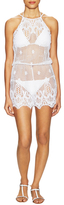 Miguelina Cicely Lace Cover Up Romper