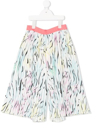 Kenzo Abstract Print Pleated Shorts