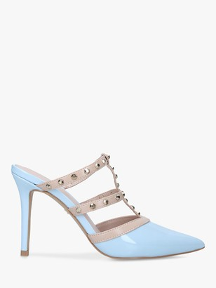 Carvela Kankan Studded High Heel Mules, Pale Blue