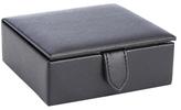 Royce Leather Italian Saffiano 4-Slot Cufflink Case