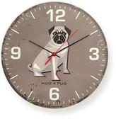 Hug A Pug Round Clock