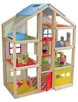 Melissa & Doug ; Hi-Rise Wooden Dollhouse With 15 pcs Furniture - Garage ...