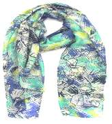 La Fiorentina Women's Scarf With Sketchy Floral Print.