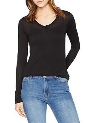 G Star Women's Granddad Slim T-Shirt Long Sleeve Top,Large