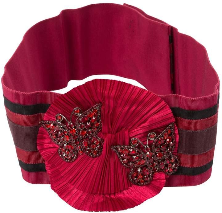 Dolce & Gabbana Burgundy Cotton Belts