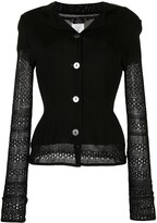 Thumbnail for your product : John Galliano Pre-Owned Open-Knit Sleeved Layered Cardigan