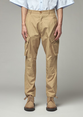 Givenchy Men's Side Pockets Trouser Pants in Beige Size 46 Polyamide/Cotton